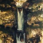 18.Vízesés két szarvassal, 2003, 180x100cm