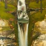 19.Vízesés fenyőligettel, 2005, 180x80cm