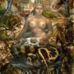 33.Nága királynő, olaj, vászon, 250x140cm, 2005-06