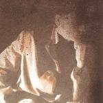 Baranyai András  Kis fekete önarcképek III 1978 vegyes technika 20x13cm