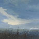 Téli táj, 2012, 150x190cm, olaj, vászon