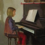 Zsuzsi zongorázik  o.v. 27x32cm 1999